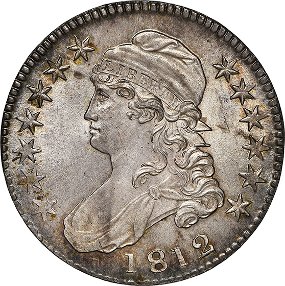 Picture of 1812 CAPPED BUST 50C, LETTERED EDGE MS66