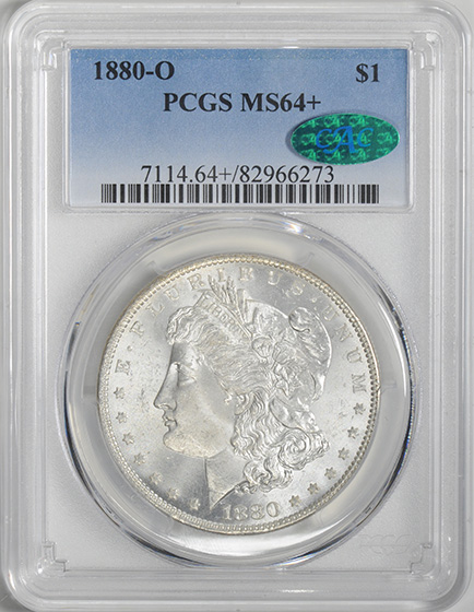 Picture of 1880-O MORGAN S$1 MS64+