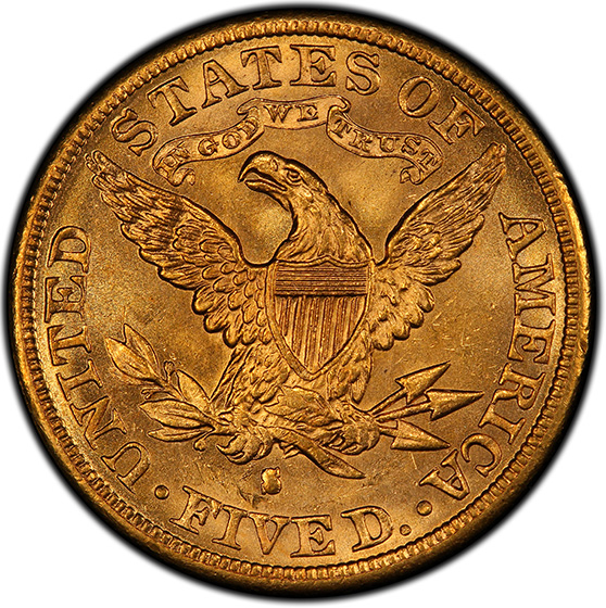 Picture of 1884-S LIBERTY $5, MOTTO MS65
