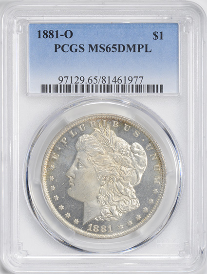 Picture of 1881-O MORGAN S$1 MS65 DMPL