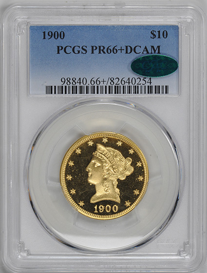 Picture of 1900 LIBERTY $10 PR66+ Deep Cameo