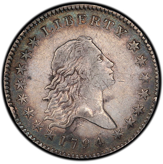 Picture of 1794 FLOWING HAIR 50C, OVERTON 101 XF40