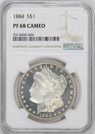 Picture of 1884 MORGAN S$1 PR68 Cameo