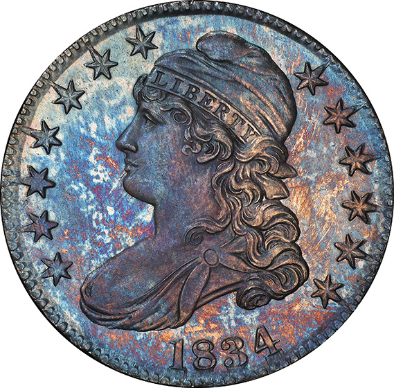 Picture of 1834 CAPPED BUST 50C, LETTERED EDGE PR67