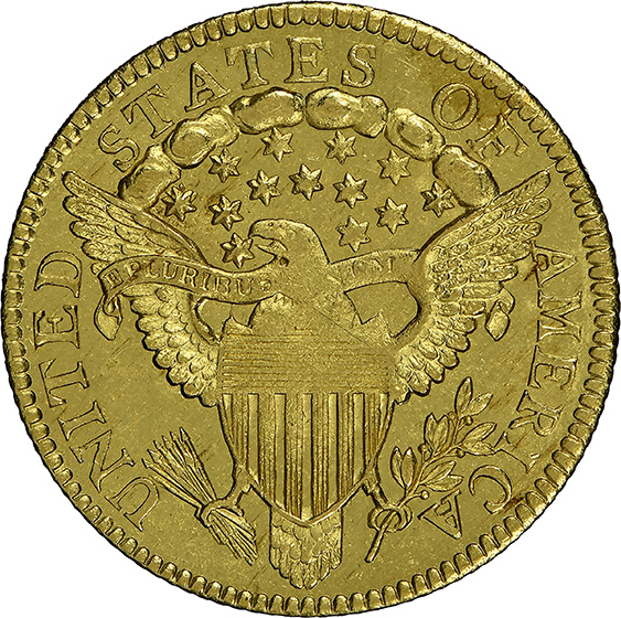 Picture of 1802/1 DRAPED BUST $2 1/2, STARS MS65