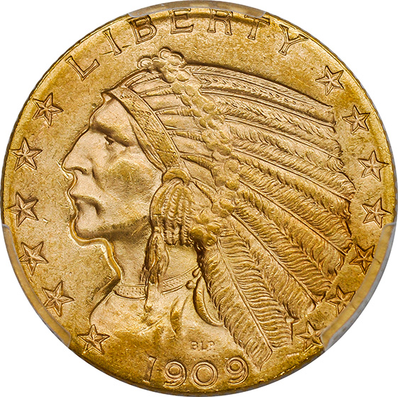 Picture of 1909-O INDIAN HEAD $5 MS65