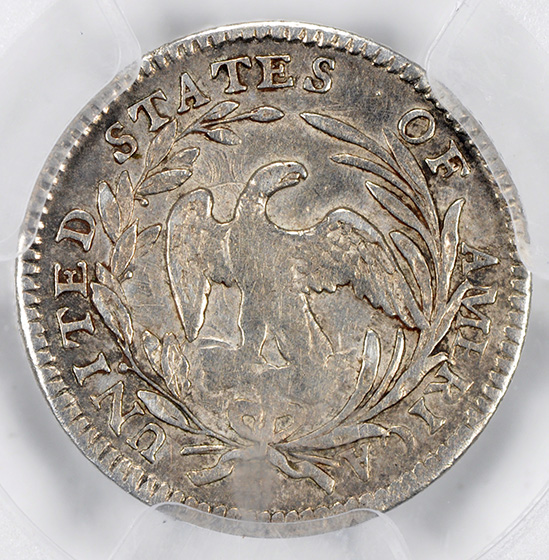 Picture of 1797 DRAPED BUST H10C, 15 STARS, SMALL EAGLE MS53