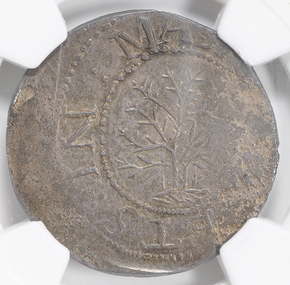 Picture of 1652 OAK TREE SHILLING, ANDO VARIETY MS63