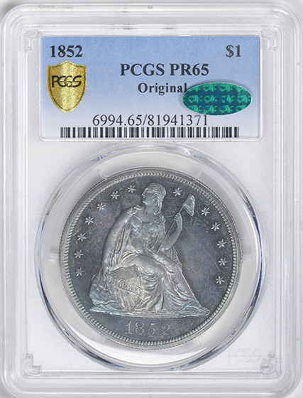 Picture of 1852 LIBERTY SEATED S$1, ORIGINAL PR65