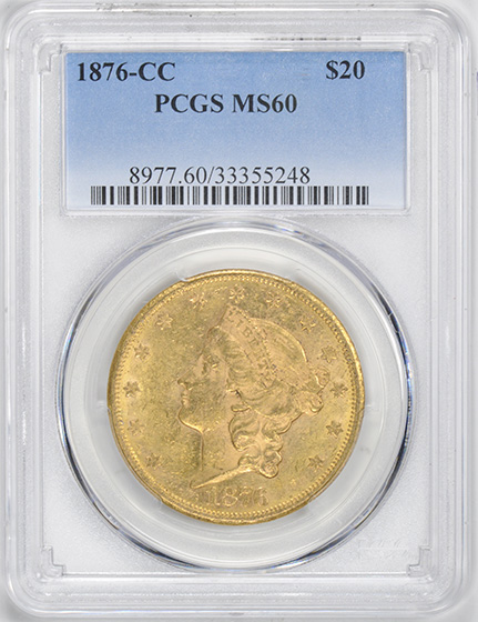 Picture of 1876-CC LIBERTY $20 MS60
