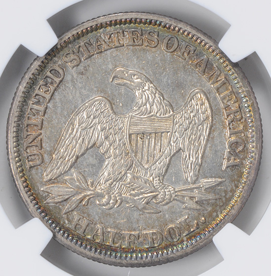 Picture of 1847/6 LIBERTY SEATED 50C, NO MOTTO MS62