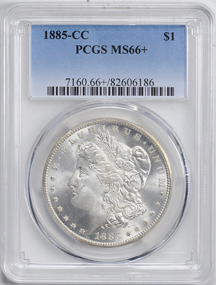 Picture of 1885-CC MORGAN S$1 MS66+