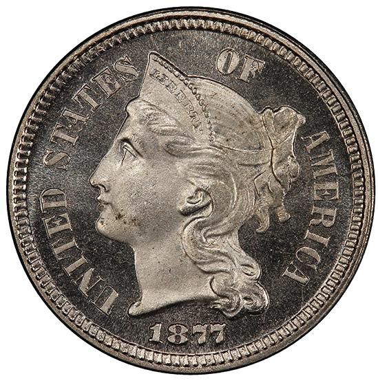 Picture of 1877 NICKEL 3CN PR67 Cameo