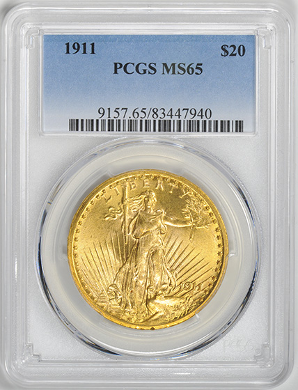Picture of 1911 ST. GAUDENS $20 MS65