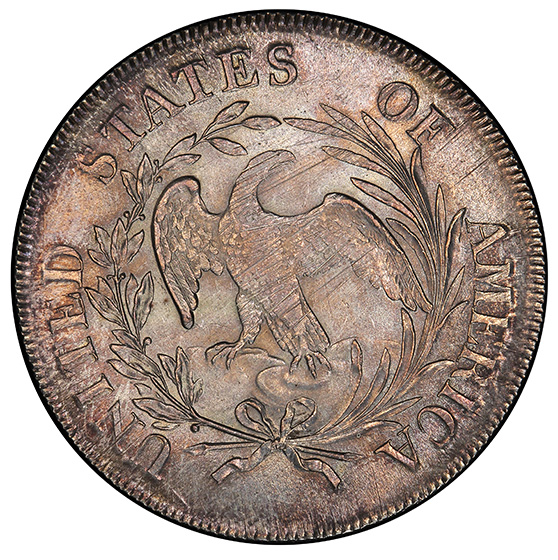 Picture of 1797 BUST S$1, 10X6 STARS, SMALL EAGLE MS64