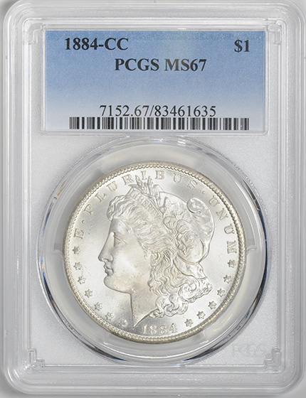 Picture of 1884-CC MORGAN S$1 MS67
