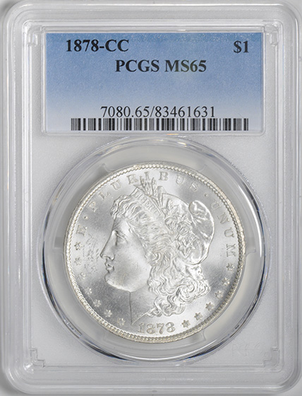 Picture of 1878-CC MORGAN S$1 MS65