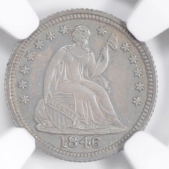 Picture of 1846 LIBERTY SEATED H10C, DRAPERY PR66