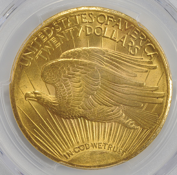 Picture of 1925-S ST. GAUDENS $20, MOTTO MS64