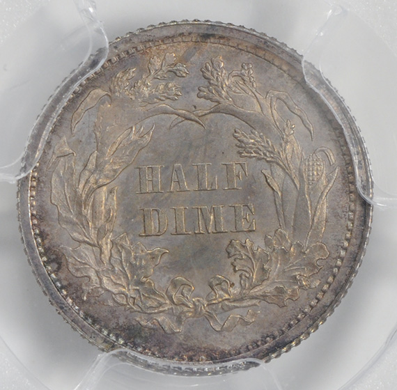Picture of 1864 LIBERTY SEATED H10C, LEGEND MS66