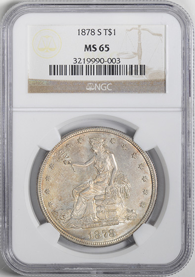 Picture of 1878-S TRADE T$1 MS65
