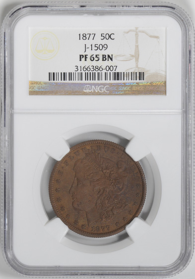 Picture of 1877 50C J-1509 PR65 Brown