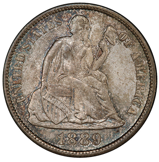 Picture of 1889-S LIBERTY SEATED 10C, LEGEND MS66