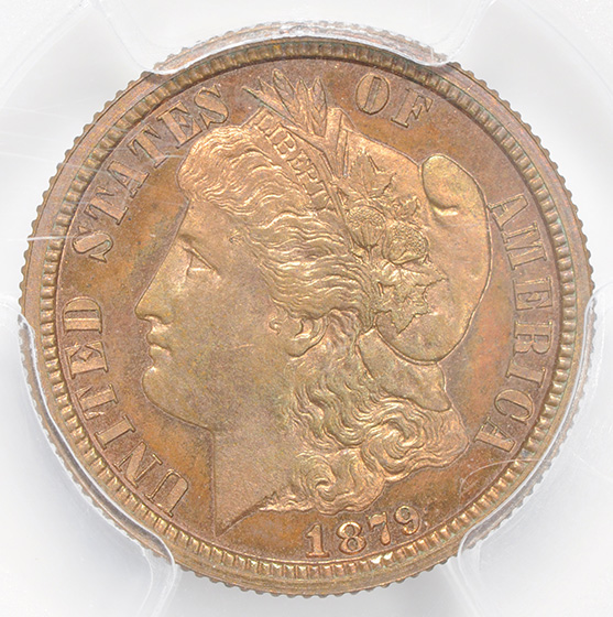 Picture of 1879 10C J-1587 PR66 Red Brown