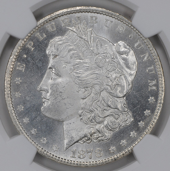 Picture of 1878-CC MORGAN S$1 MS65 DMPL