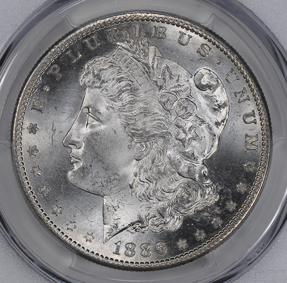 Picture of 1886-S MORGAN S$1 MS66