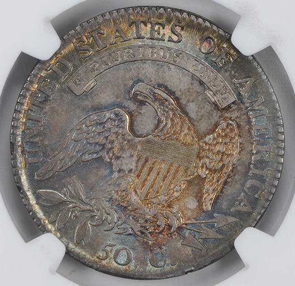 Picture of 1812/1 CAPPED BUST 50C, SMALL 8, LETTERED EDGE MS65