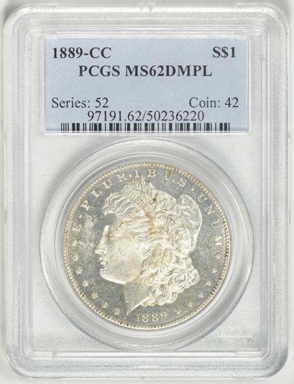 Picture of 1889-CC MORGAN S$1 MS62 Deep Mirror