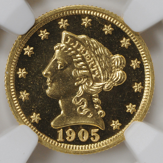Picture of 1905 LIBERTY $2 1/2 PR67 Cameo