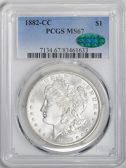 Picture of 1882-CC MORGAN S$1 MS67
