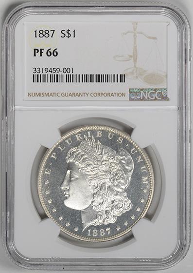 Picture of 1887 MORGAN S$1 PR66