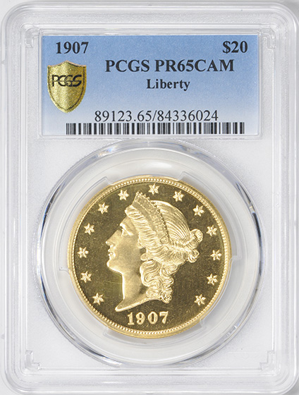 Picture of 1907 LIBERTY HEAD $20, LIBERTY PR65