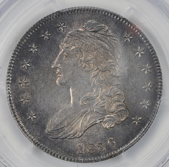 Picture of 1836 CAPPED BUST 50C, LETTERED EDGE MS65