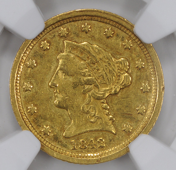 Picture of 1842-C LIBERTY $2 1/2 AU55