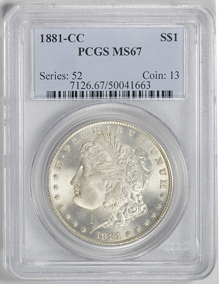 Picture of 1881-CC MORGAN S$1 MS67