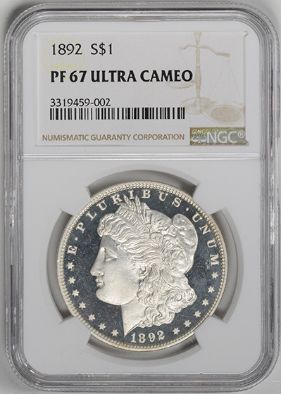 Picture of 1892 MORGAN S$1 PR67 Deep Cameo