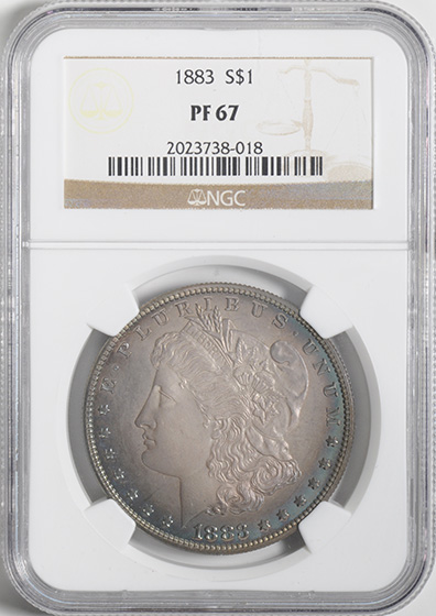 Picture of 1883 MORGAN S$1 PR67