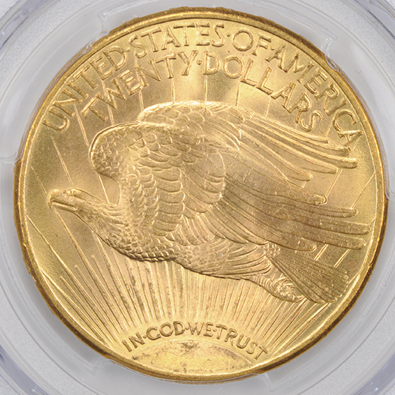 Picture of 1913-D ST. GAUDENS $20 MS65+