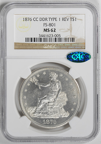 Picture of 1876-CC TRADE T$1 MS62