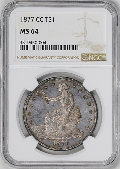Picture of 1877-CC TRADE T$1 MS64