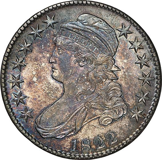 Picture of 1822 CAPPED BUST 50C, LETTERED EDGE MS65