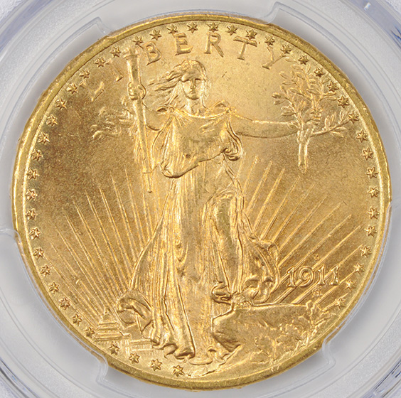 Picture of 1911-D ST. GAUDENS $20 MS67