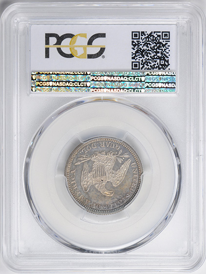 Picture of 1861 LIBERTY SEATED 25C, NO MOTTO PR66