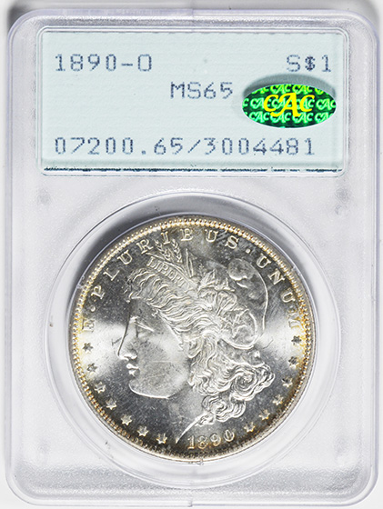 Picture of 1890-O MORGAN S$1 MS65
