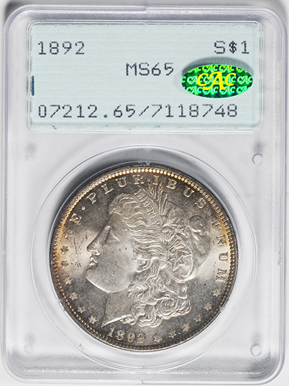 Picture of 1892 MORGAN S$1 MS65