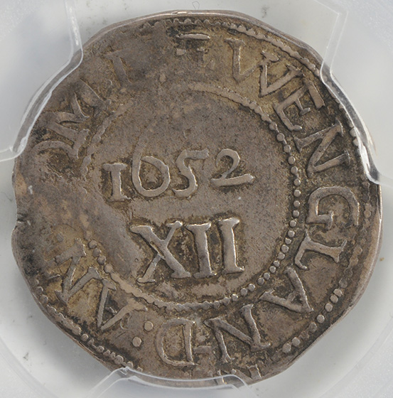 Picture of 1652 OAK TREE SHILLING, IN AT LEFT XF40